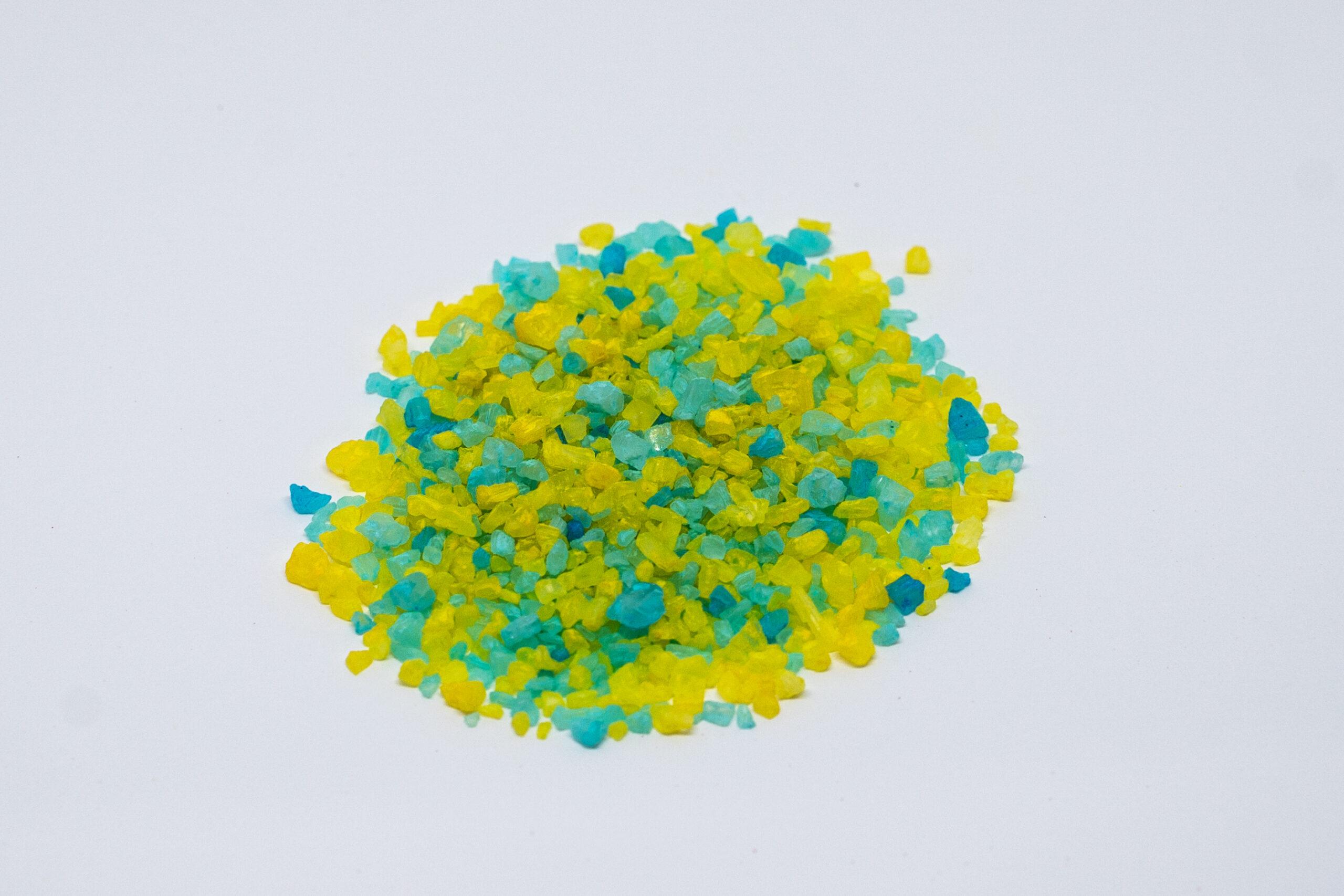 Light blue and Yellow salt